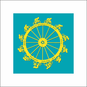 Tour de France World's Greatest Cycle Race, unframed Giclée limited edition print