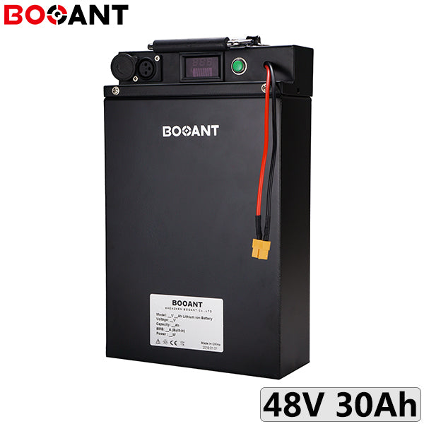 Booant 48V Electric Scooter Battery 13S 30Ah 2000W Panasonic 18650 Rechargeable Lithium Ion Battery Pack With Metal Case