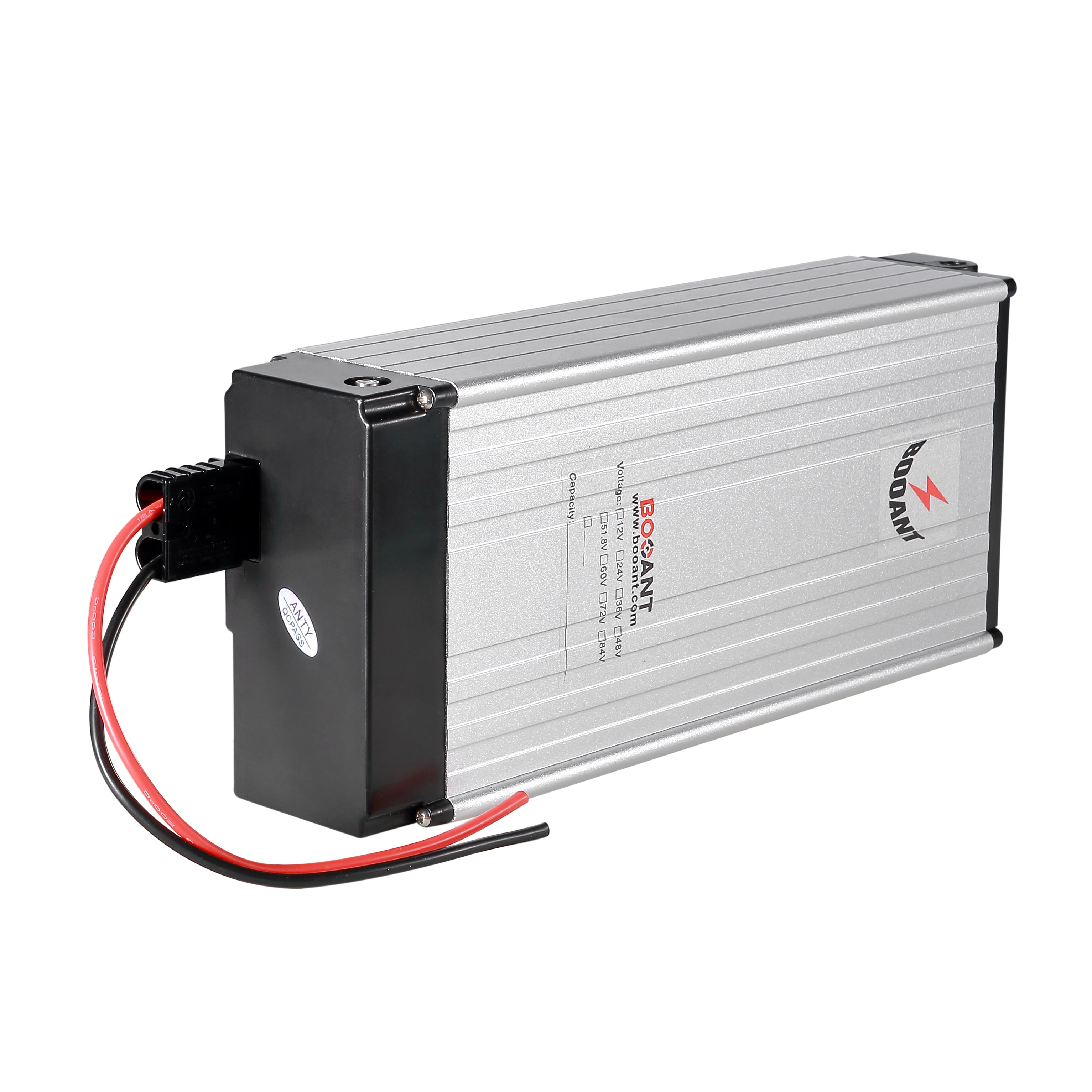 Booant 36V Rear Rack Electric Bike Battery 10S 30Ah 1500W Panasonic Lithium Ion Battery Pack 18650 with 5A Charger