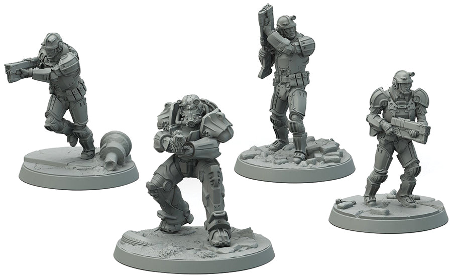 Fallout: Wasteland Warfare - Brotherhood of Steel Frontline Knights - Indigo Chase Specialties