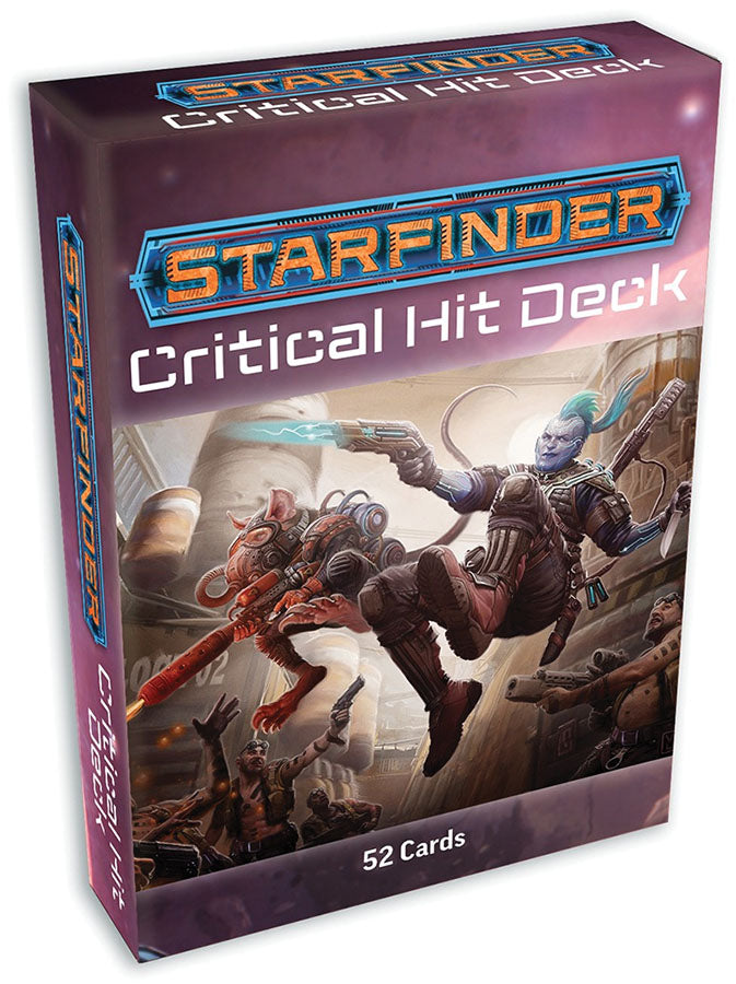 Starfinder RPG: Critical Hit Deck - Indigo Chase Specialties
