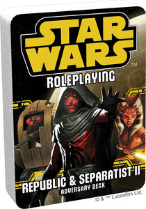 Star Wars RPG: Adversary Deck - Republic and Separatist II - Indigo Chase Specialties