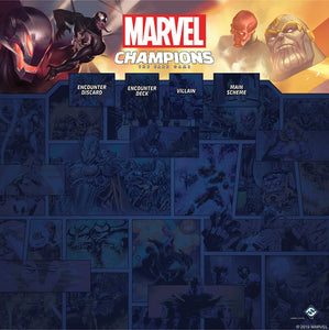 Marvel Champions LCG: 1-4 Player Game Mat - Indigo Chase Specialties