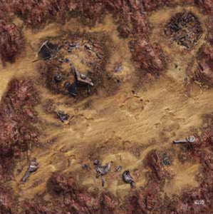 Star Wars: Legion - Desert Junkyard Gamemat - Indigo Chase Specialties