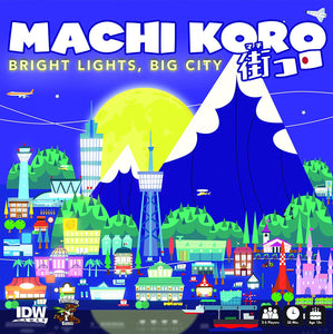 Machi Koro Bright Lights Big City Card Game - Indigo Chase Specialties Board Games Yarn Alaska Anchorage Knitting