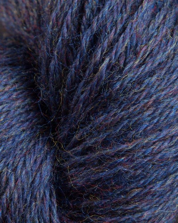Jagger Spun- Heather - Worsted Yarn - Midnight - Indigo Chase Specialties