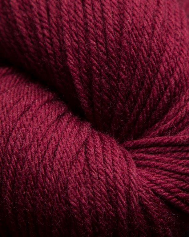 Jagger Spun - Super Lamb - Worsted Yarn - Wine - Indigo Chase Specialties