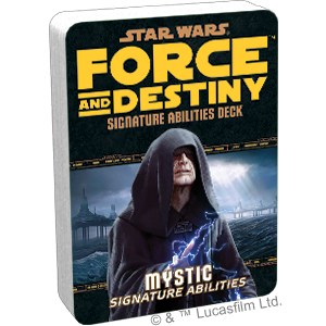 Star Wars: Force and Destiny: Mystic Signature Abilities Deck - Indigo Chase Specialties