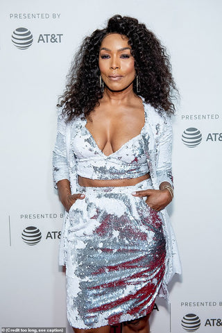 Angela Bassett Wears Cavanagh Baker on the Red Carpet