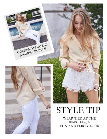 Golden Andrea Blouse
