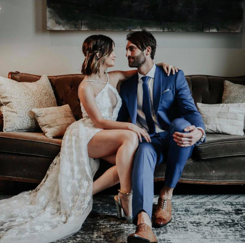 Maren Morris custom Cavanagh Baker Wedding Dress