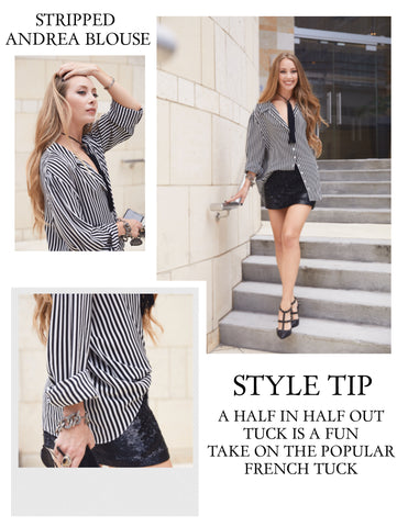 Stripped Andrea Blouse