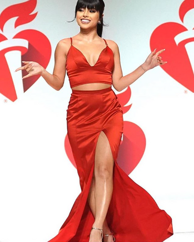 Becky G in Cavanagh Baker Go Red For Women New York Fashion Week