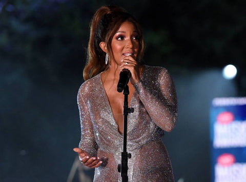Mickey Guyton CMT Awards crystal performance dress Cavanagh Baker