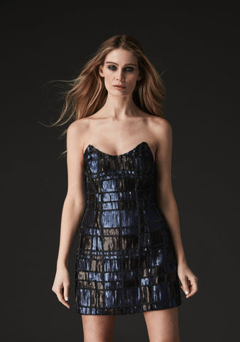 MILLIE SEQUIN AND BEADED BOW DRESS
