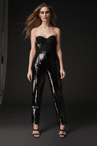 MIA BLACK SEQUIN PANT