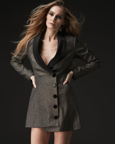 ASYMMETRICAL BLAZER DRESS