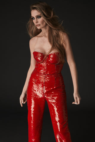 MIA RED SEQUIN PANT