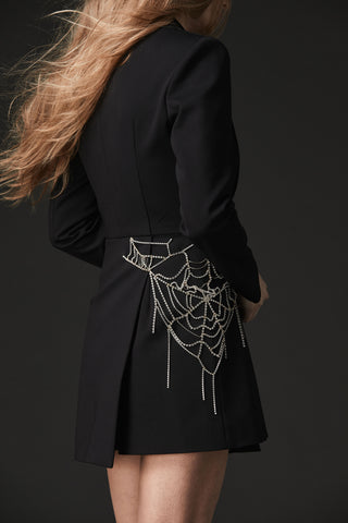 ASYMMETRICAL SPIDER BLAZER DRESS