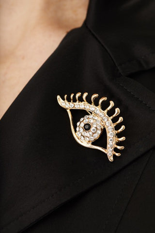 EYE SWAROVSKI CRYSTALS PIN,