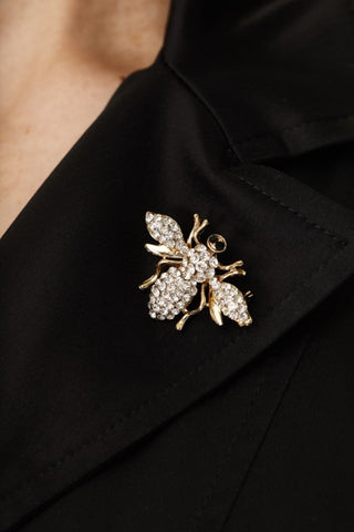BEE SWAROVSKI CRYSTAL PIN,