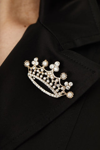 CROWN SWAROVSKI CRYSTAL PIN,