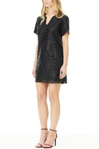 DARK PAISLEY TEE DRESS, Dress