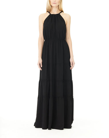 BLACK HALTER IRIS MAXI DRESS, Dress