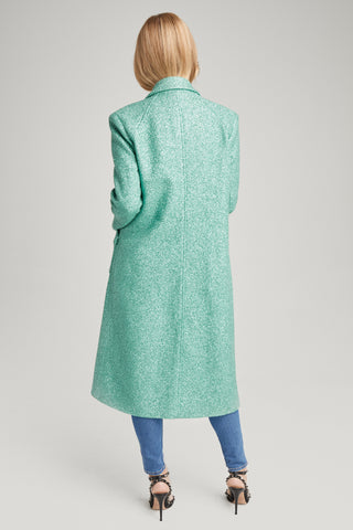 Jackie O Oversized Sea foam Green Coat, Outerwear