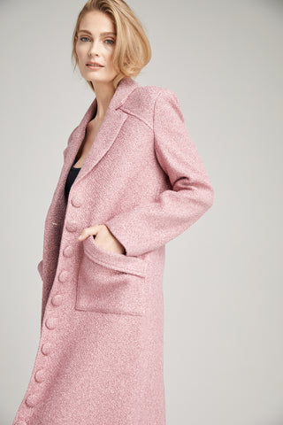 Jackie O Oversized Millennial Pink Coat, Outerwear
