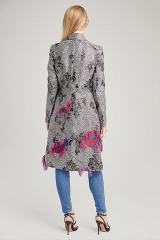 COCO FLORAL FINGE JACKET, Outerwear