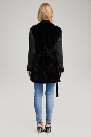 Kingsley Black Velvet Jacket, Outerwear