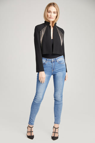 Bria Chain Crop Jacket, Outerwear