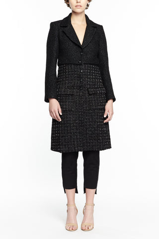 COCO BLACK TWILL AND TWEED JACKET