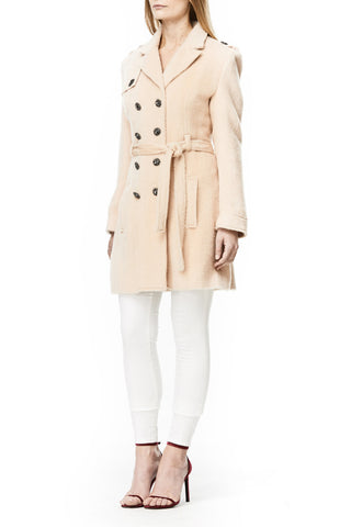 PINK WOOL AVA TRENCH COAT, Outerwear