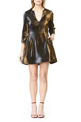 METALLIC MINI CARA DRESS, Dress