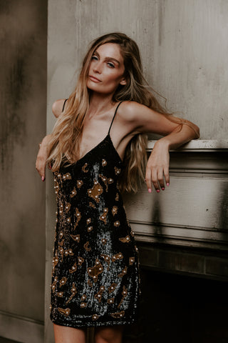 Hand Beaded and Pearl Slip Dress