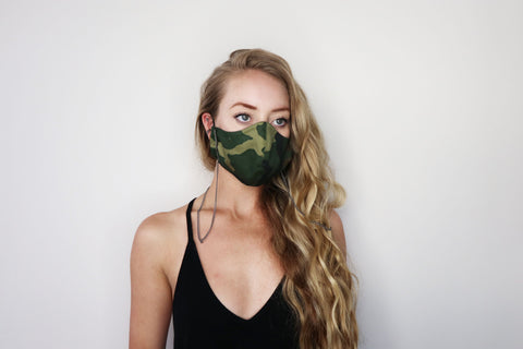 Camo Chain Face Mask