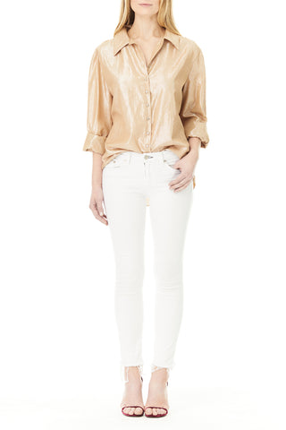 GOLDEN LINEN ANDREA BLOUSE,