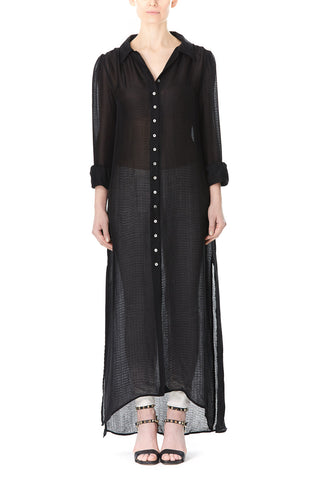 SHEER BUTTON UP ANDREA DRESS, Dress