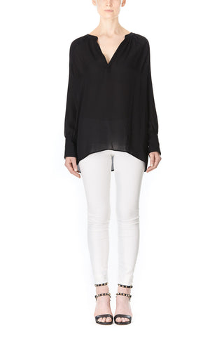BLACK SILK SOFIA BLOUSE, Blouses