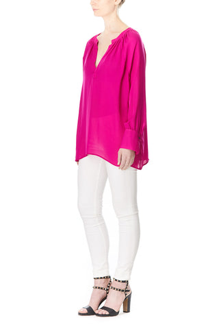 PINK SILK SOFIA BLOUSE, Blouses