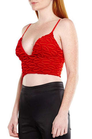 ADEE RED LIP BRALETTE, Tops