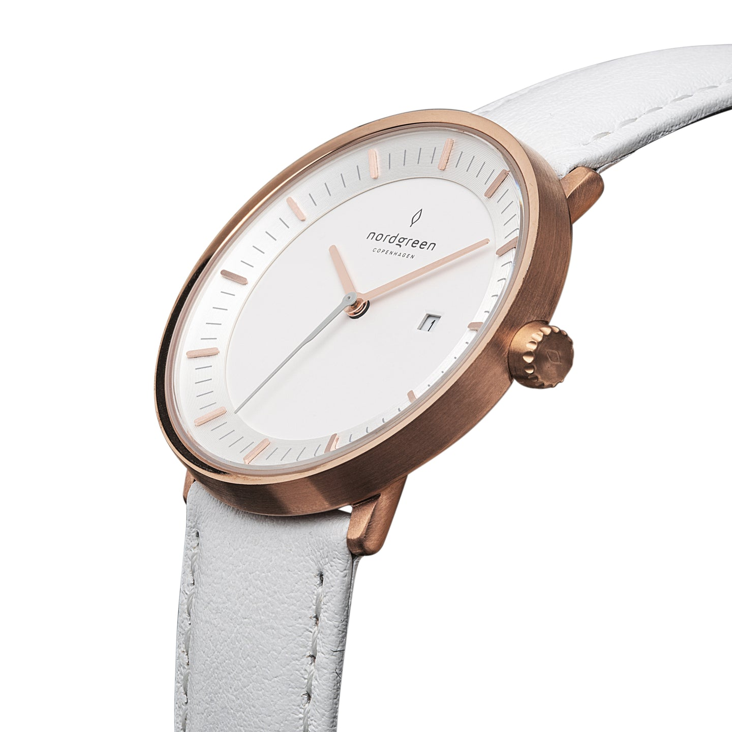 Philosopher - Rose Gold | White Leather
