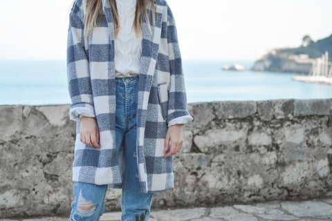 Plaid coat trend