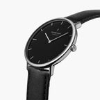 Native - BUNDLE Black Dial Silver | Silver 5-Link / Black Leather Strap