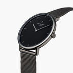 Native - BUNDLE Black Dial Gun Metal | Gun Metal Mesh / Navy Nylon / Black Leather Strap