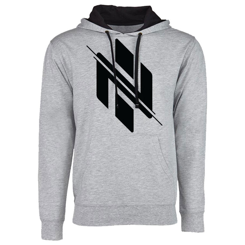 Heather Grey Hoodie with Logo (intl) - Ignite Nutrition