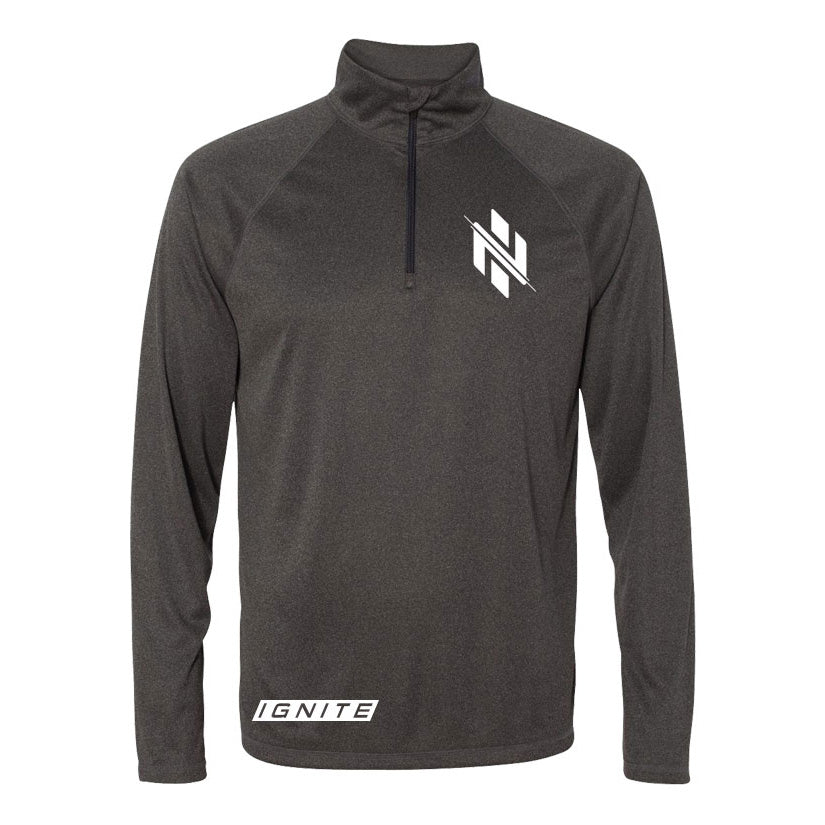Charcoal Logo Pullover - Ignite Nutrition