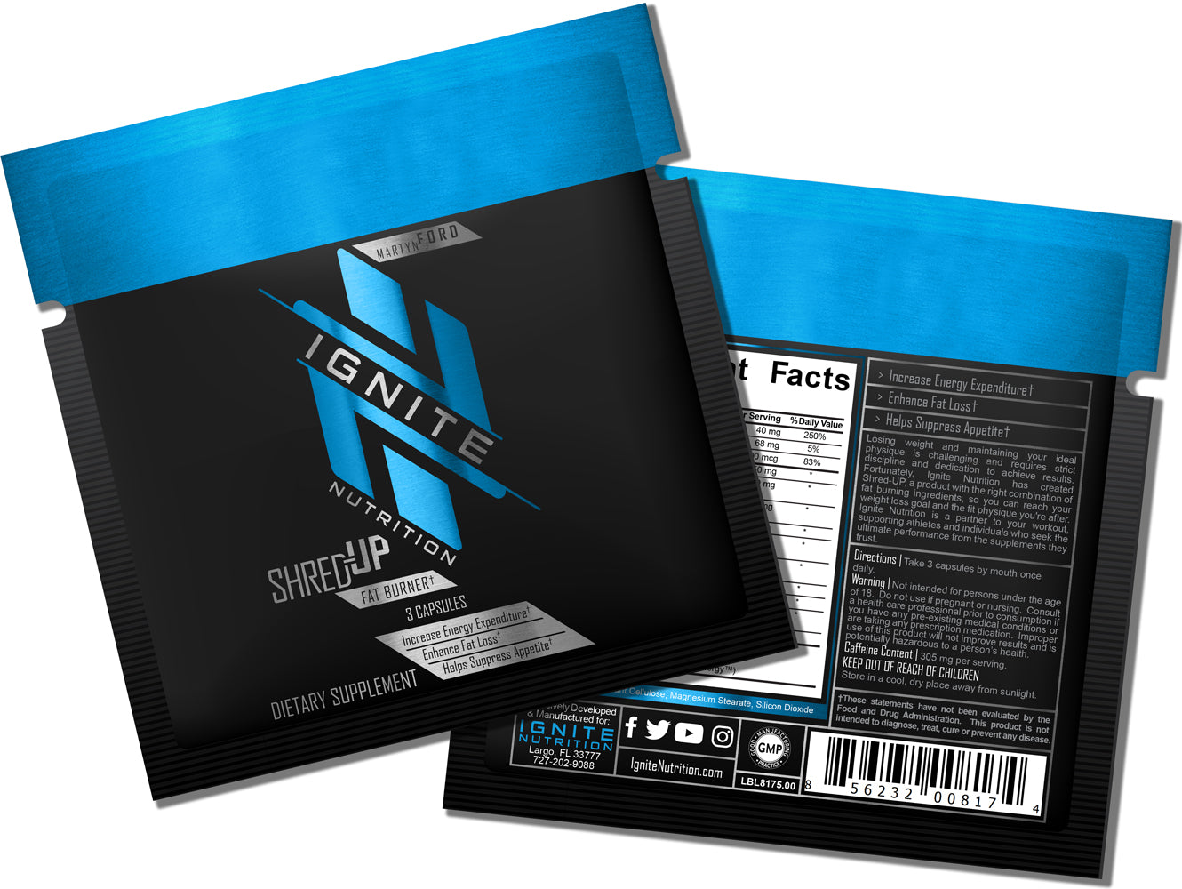 Shred-Up Fat Burner (Sample) - Ignite Nutrition